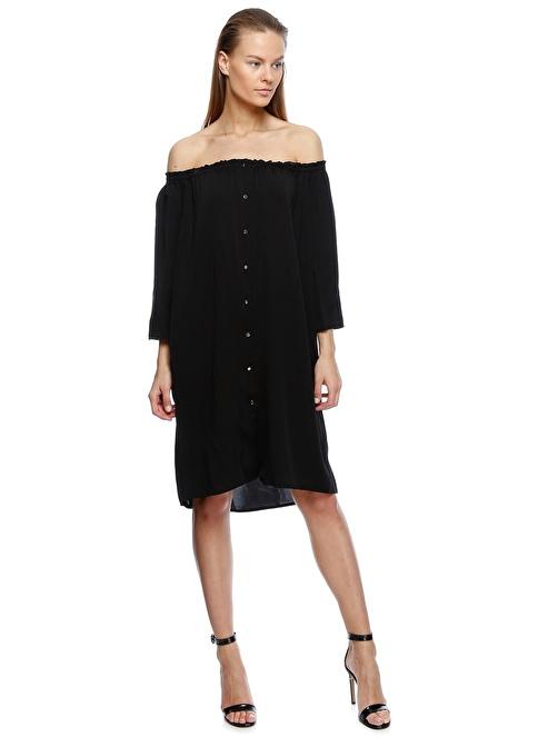 Beymen Studio Straplez Kısa Elbise Siyah